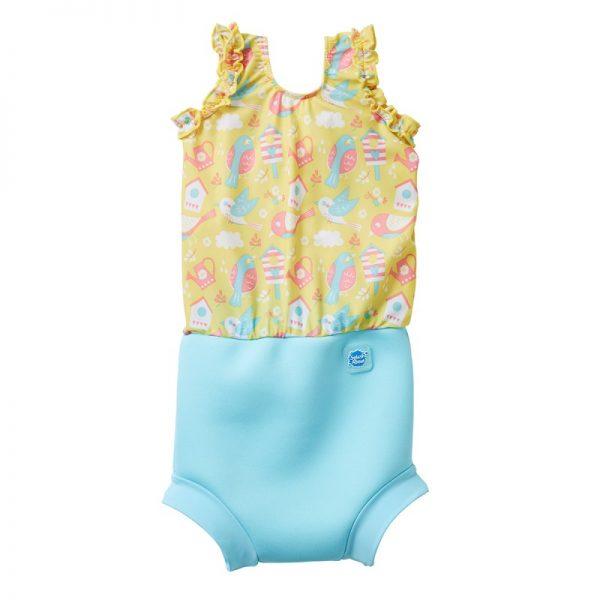 Kostium kąpielowy z pieluszką Happy Nappy Garden Birds