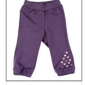 MMDadak, Dresowe spodnie ocieplane Milly fioletowe