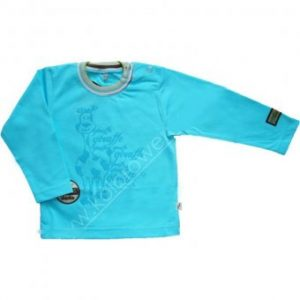 Bluzka niebieska z długim rękawem Zwierzaki