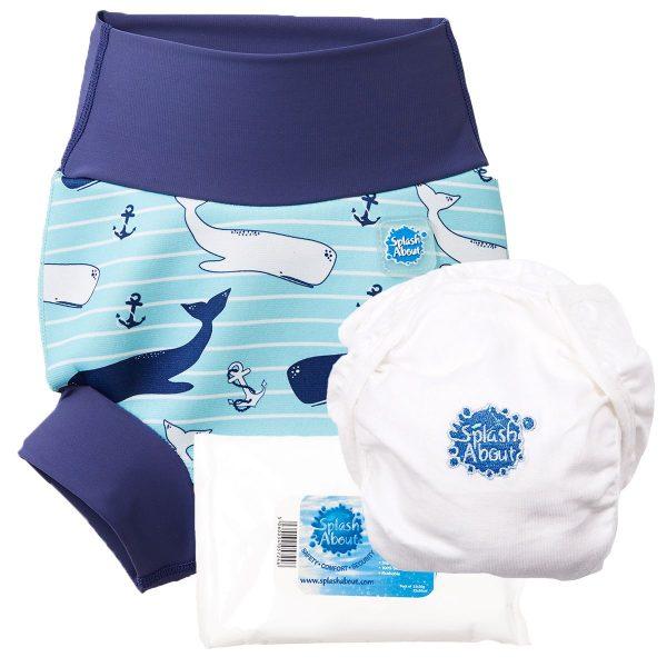 Zestaw Happy Nappy wieloryby