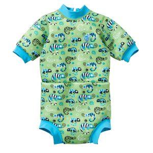 Neoprenowa pianka + pieluszka do pływania Happy Nappy 2w1 – green gecko