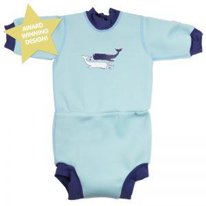 Neoprenowa pianka + pieluszka do pływania Happy Nappy 2w1 – wieloryby