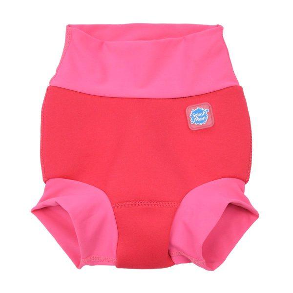 Neoprenowa pieluszka do pływania Happy Nappy Pink Geranium