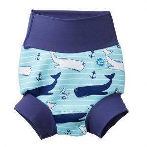 Neoprenowa pielucha do pływania Happy Nappy- wieloryby