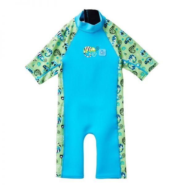 Neoprenowa pianka do pływania dla dzieci UV Combie – green gecko