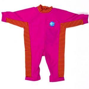 Strój pływacki BabyGrip (różowy z paskami mango)- 3-4 LATA
