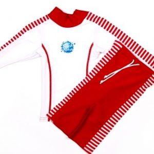 Close Fit Classic – przylegające ubranko na słońce UV (czerwono-białe)