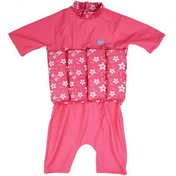 Kostium kąpielowy do nauki pływania UV – pink blossom