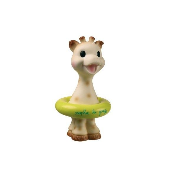 Żyrafa Sophie w pływającym kółku
