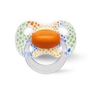Smoczek ortodontyczny uspokajający WILD BABY/pomarańczowy