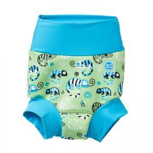 Neoprenowa pieluszka do pływania Happy Nappy Green Gecko