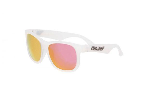 Babiators okulary przeciwsłoneczne – Original Navigator Pink Ice białe