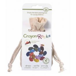 Kredki Crayon Rocks w bawełnianym woreczku – 16 kolorów