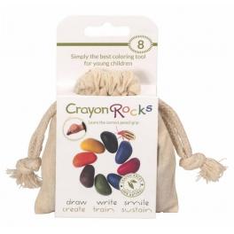Kredki Crayon Rocks w bawełnianym woreczku – 8 kolorów