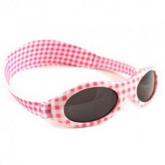 Okulary przeciwsłoneczne Kidz Baby Banz Adventure (2-5 lat) Pink Check