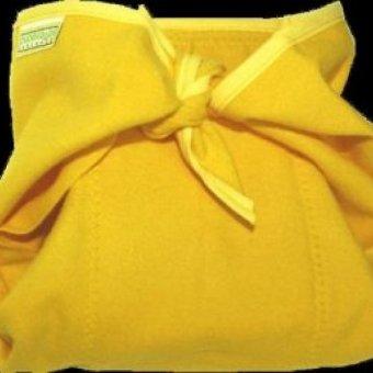 Poskładana, żółta, z lamówką
