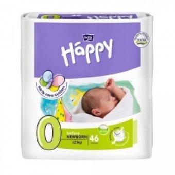 Pieluszki Happy Before Newborn dla wcześniaków do 2 kg – 46 szt.