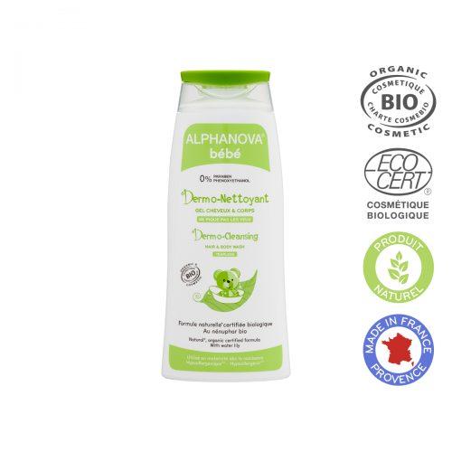 Alphanova Bebe Dermo – Żel do mycia ciała i włosów, 200ml