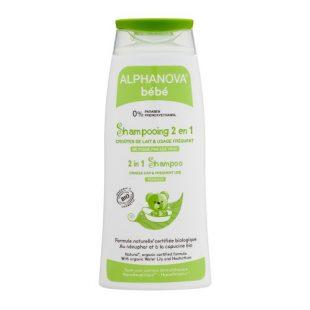 Alphanova Bebe Delikatny szampon do włosów Bio,                                                                                              200 ml