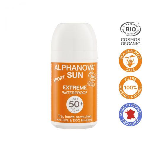 Alphanova Sun Bio Krem Przeciwsłoneczny w kulce, filtr SPF50+, EXTREME SPORT