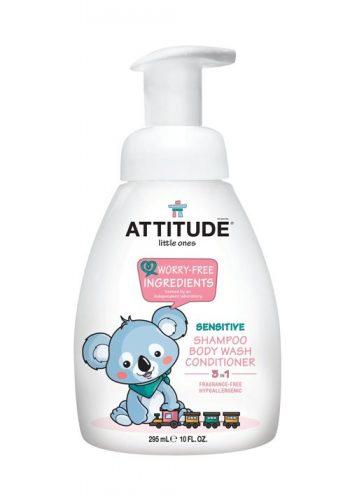 Attitude, 3 w 1 płyn dla dzieci do mycia szampon odżywka bezzapachowy (fragrance free) 300 ml