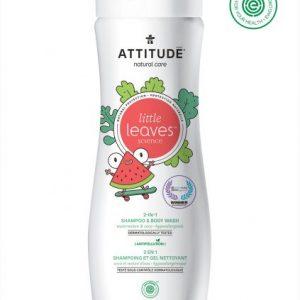 Attitude-Płyn do mycia i szampon 2w1, Arbuz i Kokos, Little Ones, 473 ml
