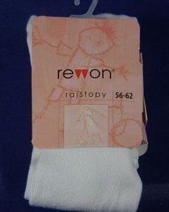 Rewon Rajstopy bawełniane gładkie Różowe R.80-86 CM.