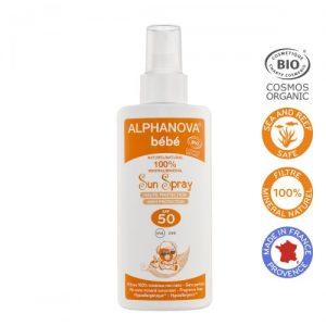 Alphanova Bebe Spray Przeciwsłoneczny o wysokim filtrze SPF 50