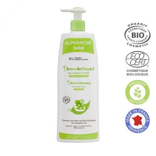 Alphanova Bebe Dermo – Żel do Mycia ciała i włosów, 500ml