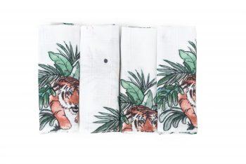 4-pak mini pieluszki bambusowe tygrysy