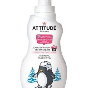 Attitude, Bezzapachowy płyn do prania ubranek dziecięcych  (fragrance free) 35 prań – 1050 ml