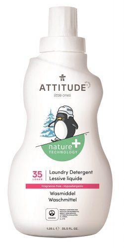 Attitude, Płyn do prania ubranek dziecięcych, Bezzapachowy 35 prań, 1050 ml