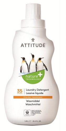 Attitude, Płyn do prania Skórka Cytrynowa (Citrus Zest) 35 prań – 1050 ml