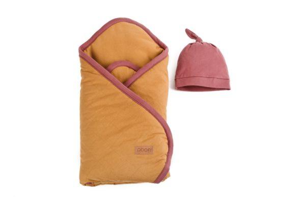 Poofi, Rożek i czapeczka Organic & Color- 3 kolory