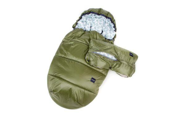 Poofi, Zestaw zimowy – śpiworek + mufka-oliwka