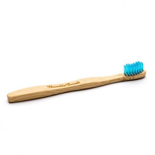 Humble Brush, Bambusowa szczoteczka do zębów dla dzieci- UltraSoft – niebieska