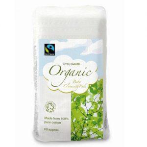 Simply Gentle, Duże Waciki Organiczne 60 szt.