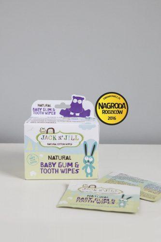 Jack N'Jill, Naturalne chusteczki do mycia dziąseł niemowląt 25 szt.