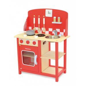 Drewniana kuchnia czerwona Indigo Jamm