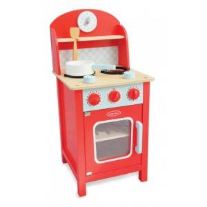 Drewniana kuchnia mini czerwona Indigo Jamm