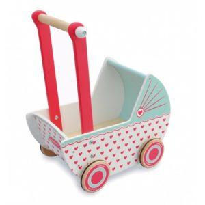 Drewniany wózek dla lalek Indigo Jamm