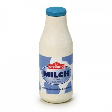 Drewniana butelka mleka Erzi