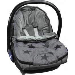 Dooky, Śpiworek do wózka, fotelika – Grey Stars – S