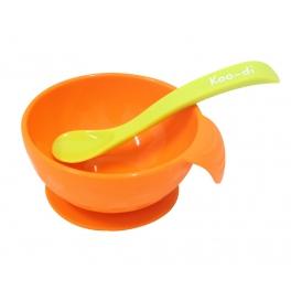 Koo-di miseczka z łyżeczką – pomarańczowa
