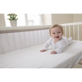 Oddychający ochraniacz do łóżeczka Pur Air PurFlo – Cloud Grey