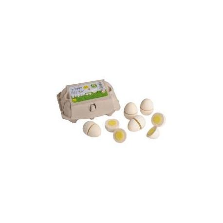 Erzi Jajka białe do krojenia w pudełku 6 szt.