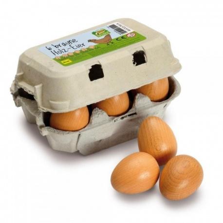 Erzi Jajka brązowe w pudełku 6 szt