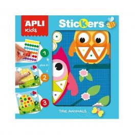 Apli Kids Plansze do wyklejania Kolory i Kształty – Zwierzęta