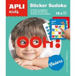Apli Kids Gra podróżna z naklejkami – Sudoku kolory
