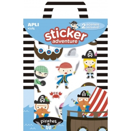 Apli Kids Naklejki wielorazowe z planszami – Piraci